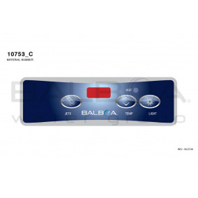 Top Side Panel VL403 - Jets, Temp, Light